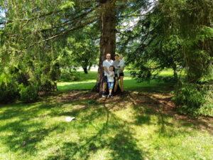 Familie Wiegert im Wald