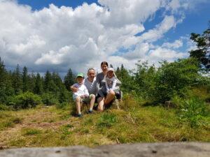 Familie Wiegert bei Wandern
