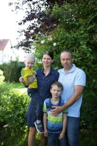 Familie Wiegert im Garten