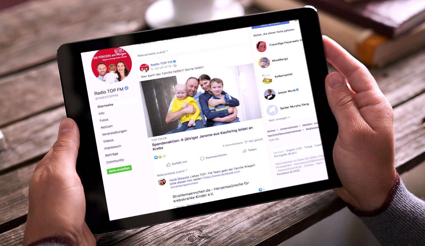 facebook TopFM Tablet