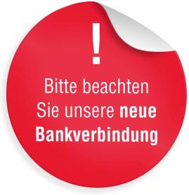 Neue Bankverbindung